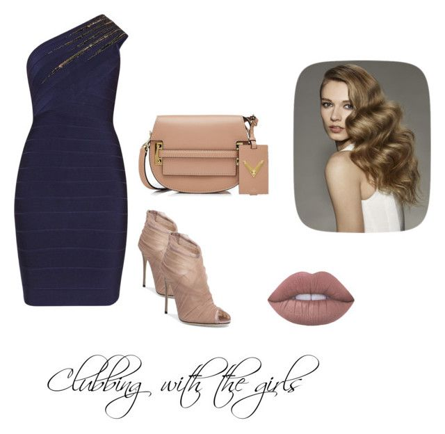 """Clubbing with the girls"" by brooklyn-r-416 ❤ liked on Polyvore featuring Hervé Léger, Dolce&Gabbana and Valentino"