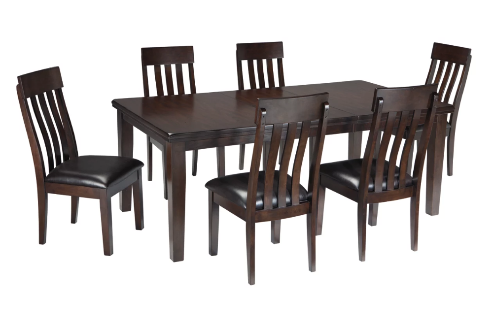 Haddigan 7 Piece Dining Room Package Ashley Furniture Homestore In 2020 Upholstered Dining Side Chair Rectangular Dining Room Table Dining Table