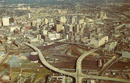 Atlanta Aerial View Circa 1964 Atlanta Travel Atlanta Skyline Aerial