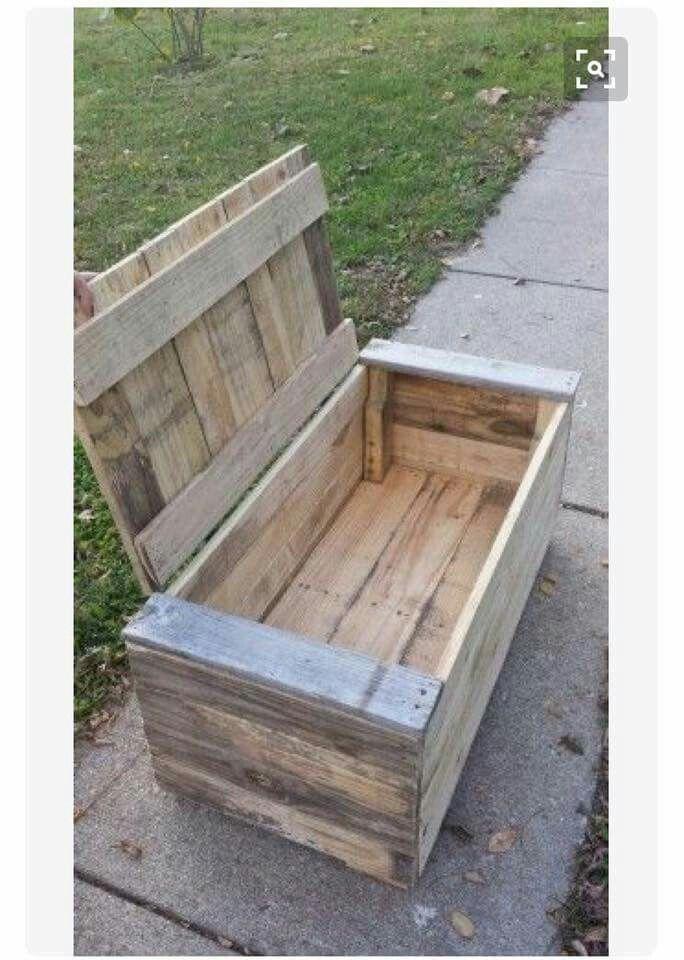 Pallet box do it yourself pinterest truhe