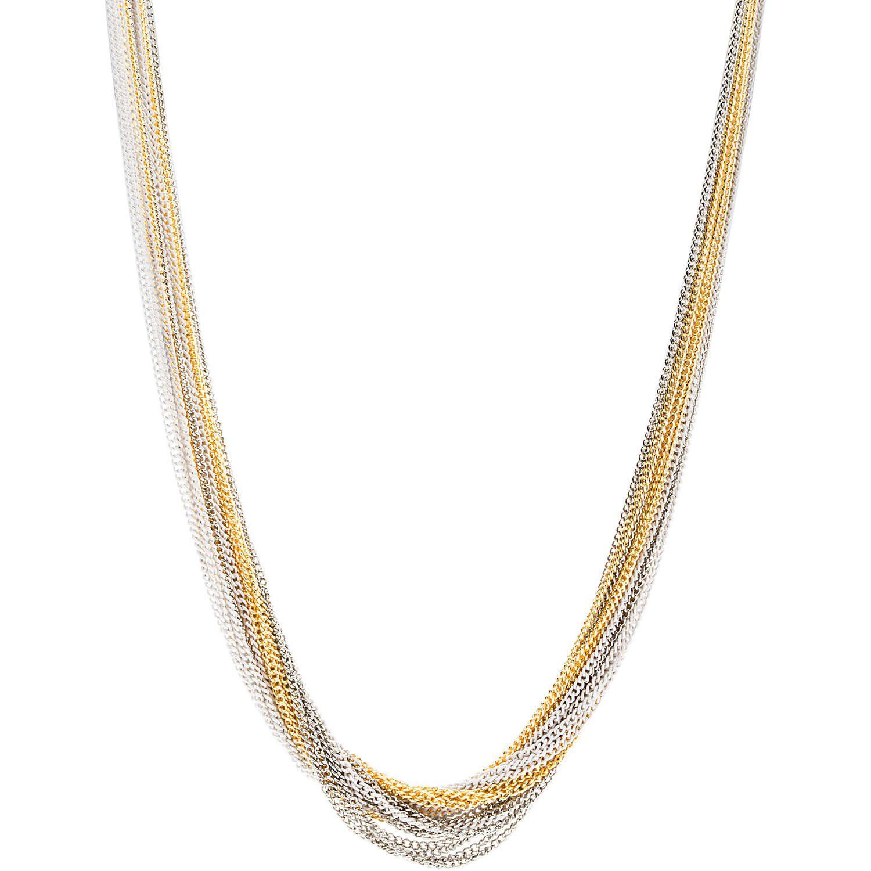 Kele & Co Tri-tone Multi Layered Chain Necklace