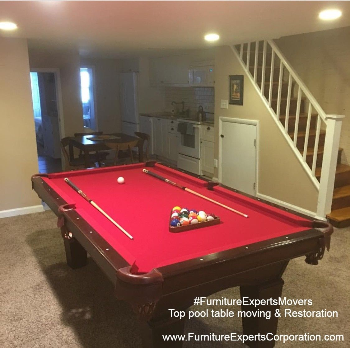 Billiard pool table moving - Refelting - recovering ...