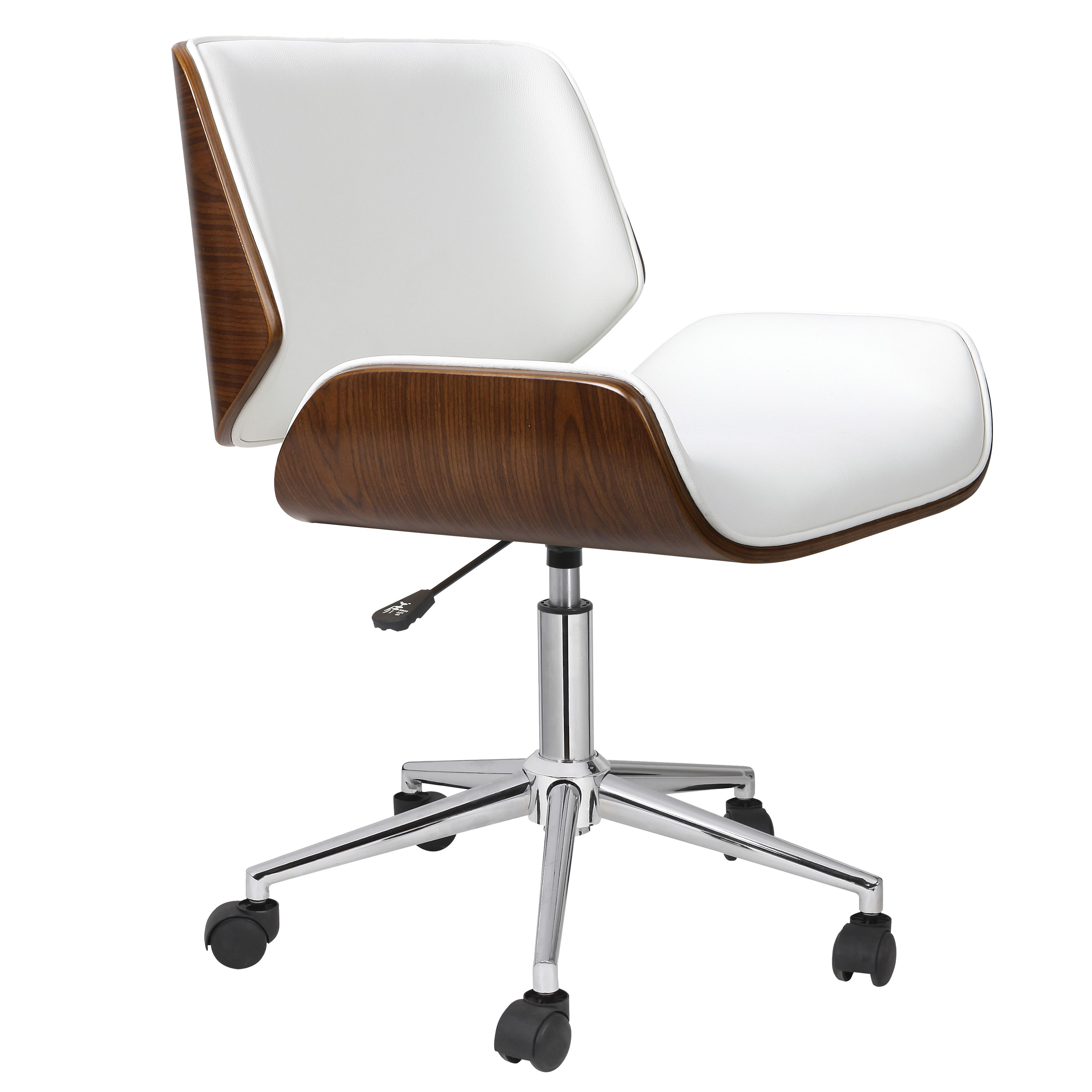 Tan leather office chair - Porthos Home Dove Wood And Faux Leather Office Chair By Porthos Home