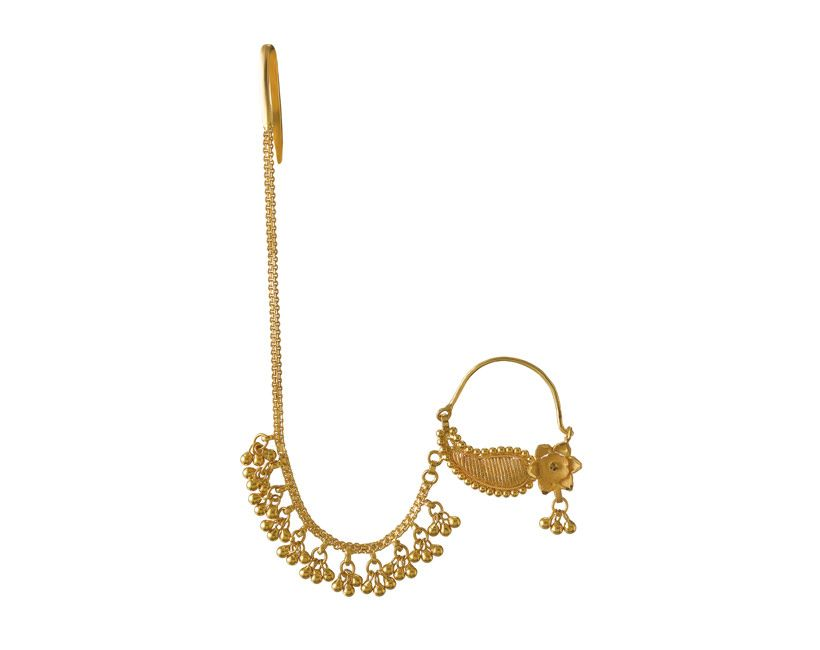 latest Gold nath/nose rings collection - Jewellery Designs ...