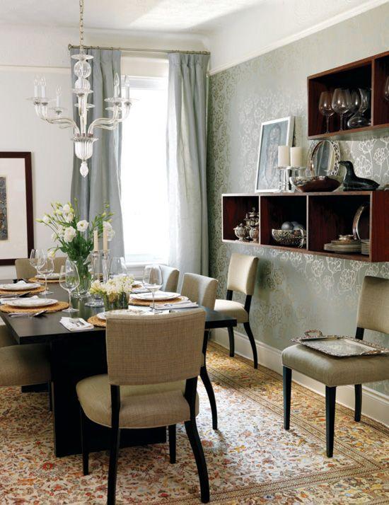 15 décors avec du papier peint: métallisé et floral | Décormag