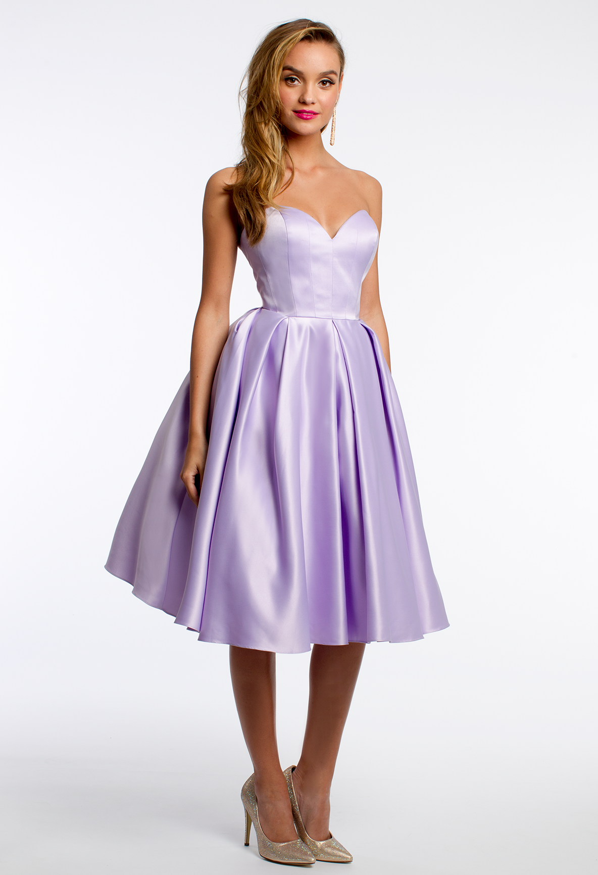 Strapless Sweetheart Tea Length Dress #camillelavie | SPRING INTO ...