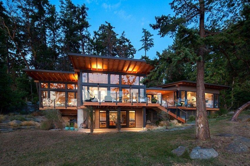 Splendides panorama et maison bois contemporaine sur l\'île Saturne ...