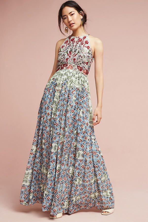 Adelise Beaded Halter Dress