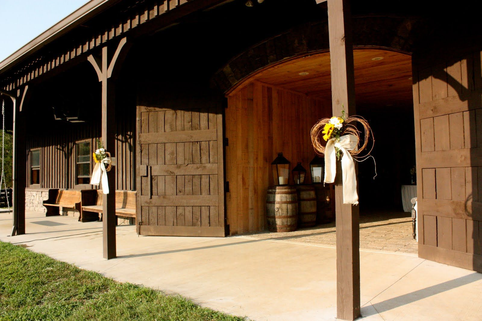 Yard wedding decoration ideas  barn decor detail  Honey will you build me this Barn  Pinterest