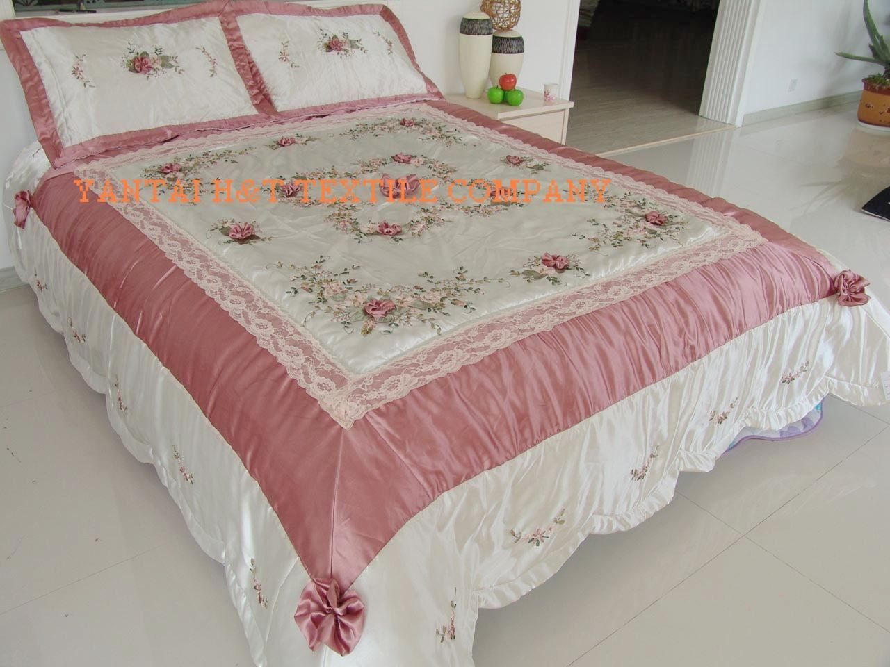 Brazilian embroidery bedspread designs - Images Of Ribbon Embroidery Google Search