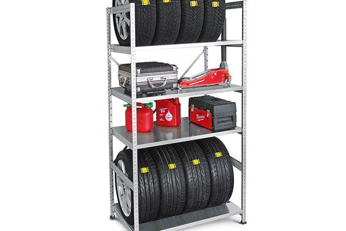 Megobully TyreSet Platzsparende lagerung, Keller regale