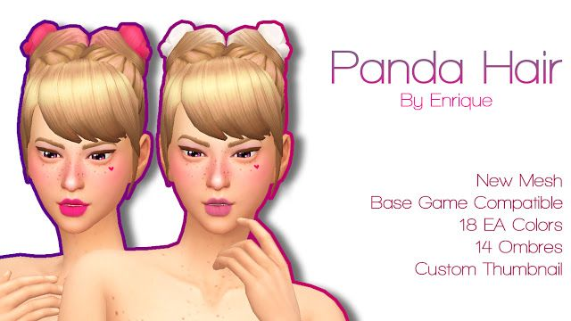 Sims 4 CC's - The Best: Panda Hair by Enrique