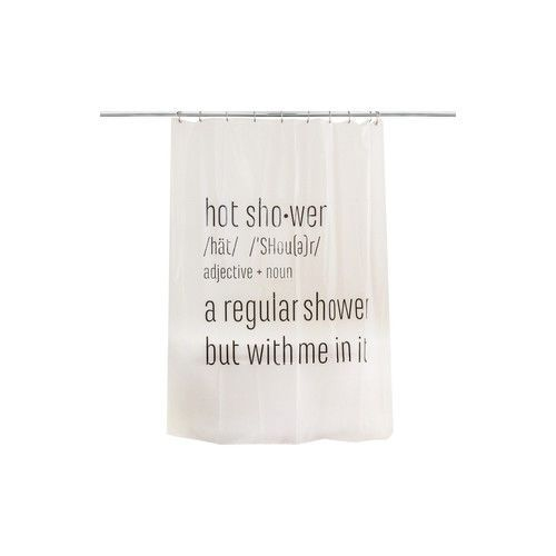 Humor Hot Shower Curtain College Apartment Bachelor Bathroom Decor