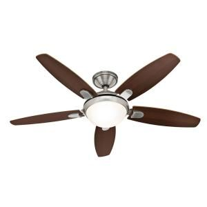 Hunter Contempo 52 In Brushed Nickel Ceiling Fan With Remote Control 25816 At The Home Depot Ventilator Deckenventilator Walnuss