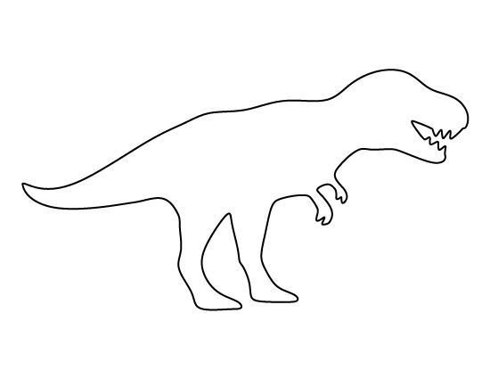 image result for outline of a t rex dinosaur