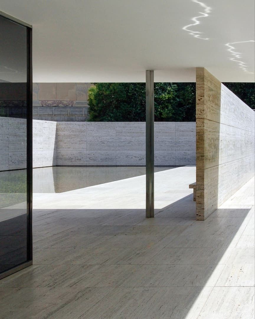Off White On Instagram Found Photo Barcelona Pavilion Ludwig Mies Van Der Rohe Barcelona Pavillion Modern Architecture Barcelona Pavilion