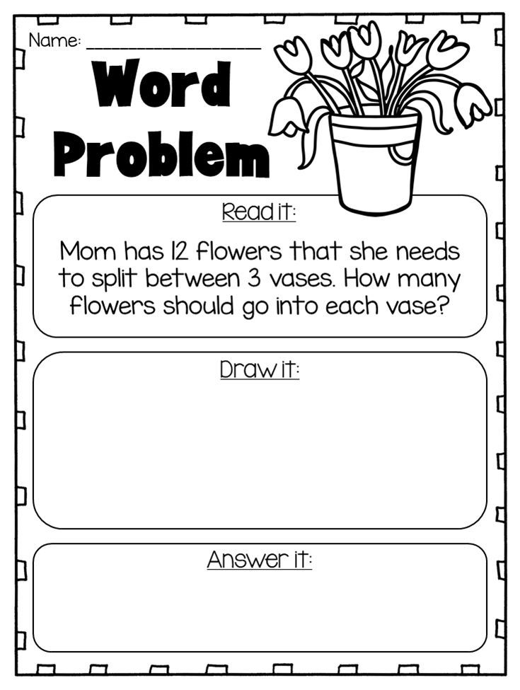 division word problem worksheets great for first second or third grade this division and. Black Bedroom Furniture Sets. Home Design Ideas