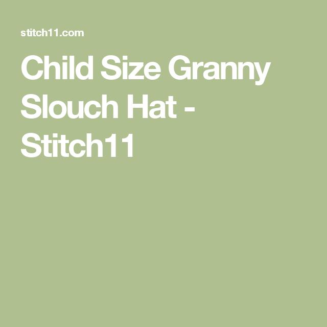 Child Size Granny Slouch Hat - Stitch11