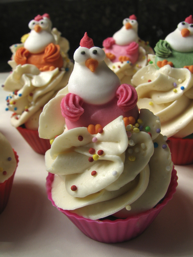 "Easter Cup Cake-Soap ""Crazy Chicken"""