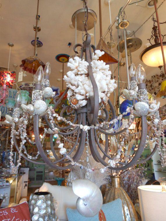 Custom shell chandelier shell covered chandelier by livecoastal custom shell chandelier shell covered chandelier by livecoastal 120000 aloadofball Gallery