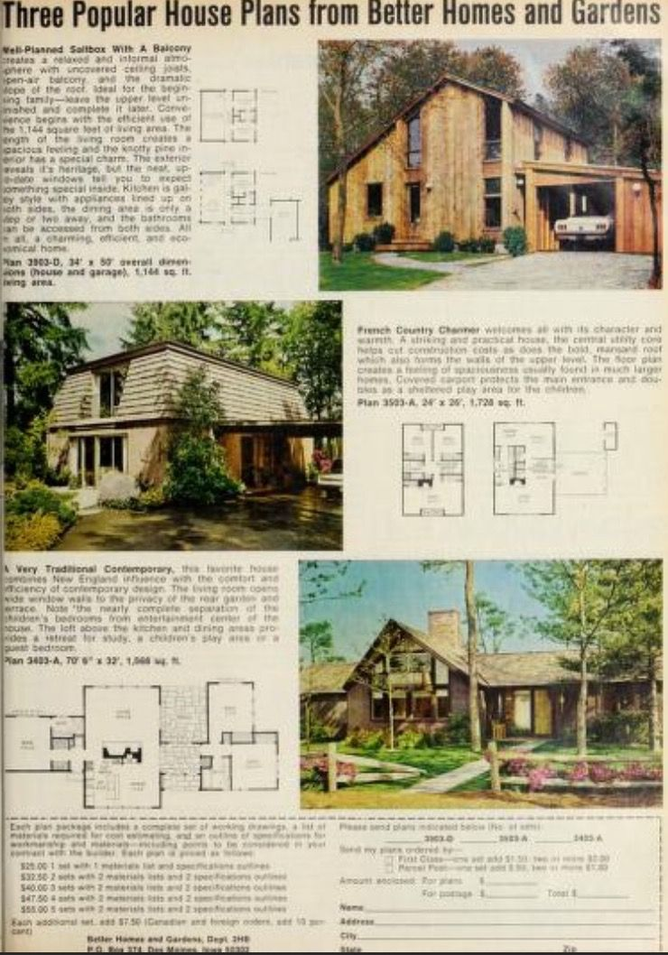 Pin By Sue Rutherford On Bhg Floor Plans House Plans Better Homes And Gardens Vintage House