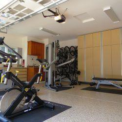 garage gym storage lockers and epoxy floor coating san