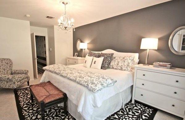 Das Schlafzimmer günstig einrichten - 24 coole Wohnideen Pinterest - Schlafzimmer Landhausstil Weiß