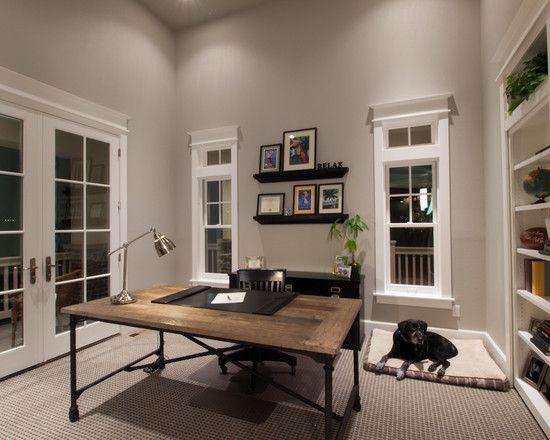 Beautiful Home Office Ideas: Architecture Beautiful Home Office Design Rustic Oak Desk