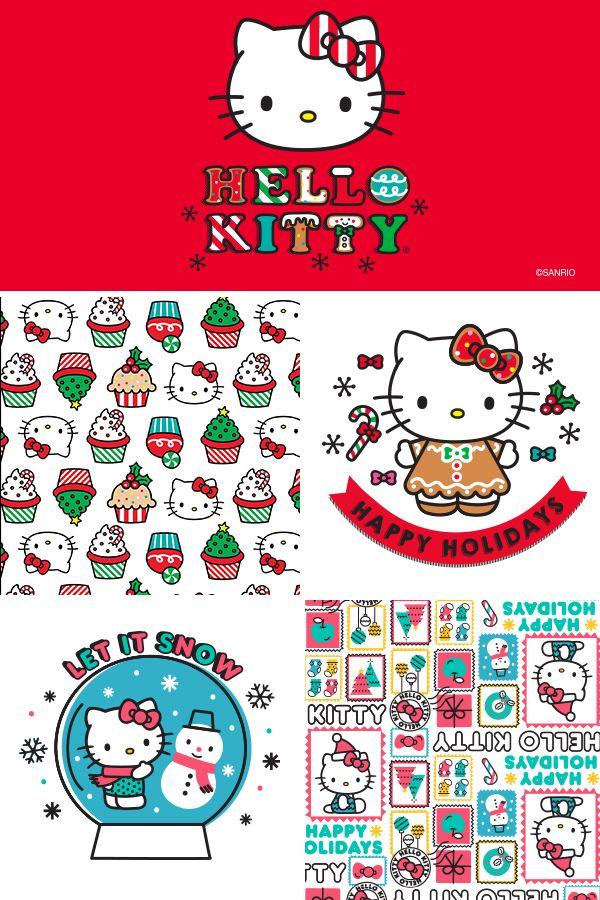 Free Hello Kitty Holiday Templates Hello Kitty Christmas Christmas Drawing Hello Kitty Art