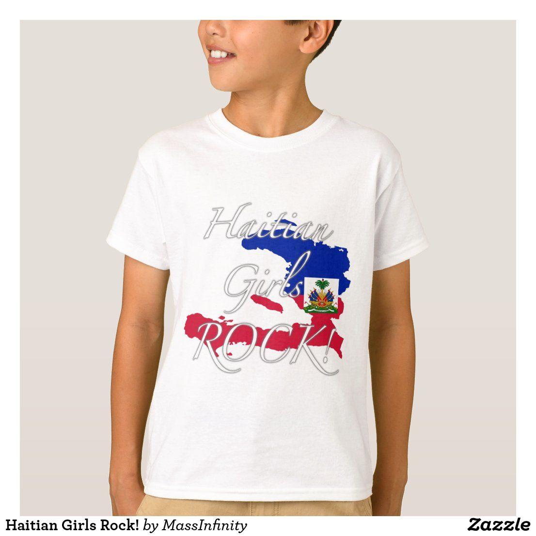Haitian Girls Rock T Shirt Zazzle Com In 2020 Rock T Shirts Girls Rock Haitian Clothing