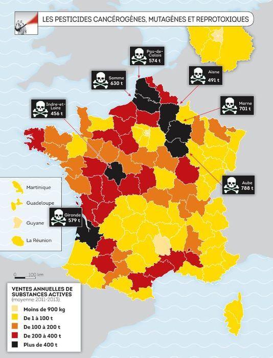 L Atlas De La France Toxique Dresse L Inventaire Des Sites Les Plus Pollues Carte De France Geographie Pollution De L Air