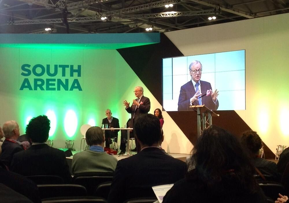 """""""We've allowed planning to be divorced from the environment- these should be together"""" says @lorddeben #ecobuild pic.twitter.com/UKgGT56S78"""