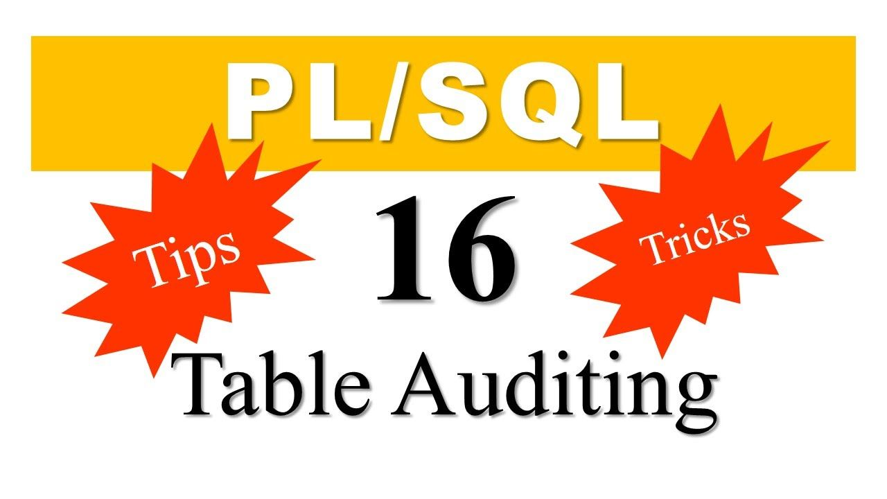 Plsql tutorial 16 table auditing using dml triggers in oracle pl plsql tutorial 16 table auditing using dml triggers in oracle plsql baditri Choice Image