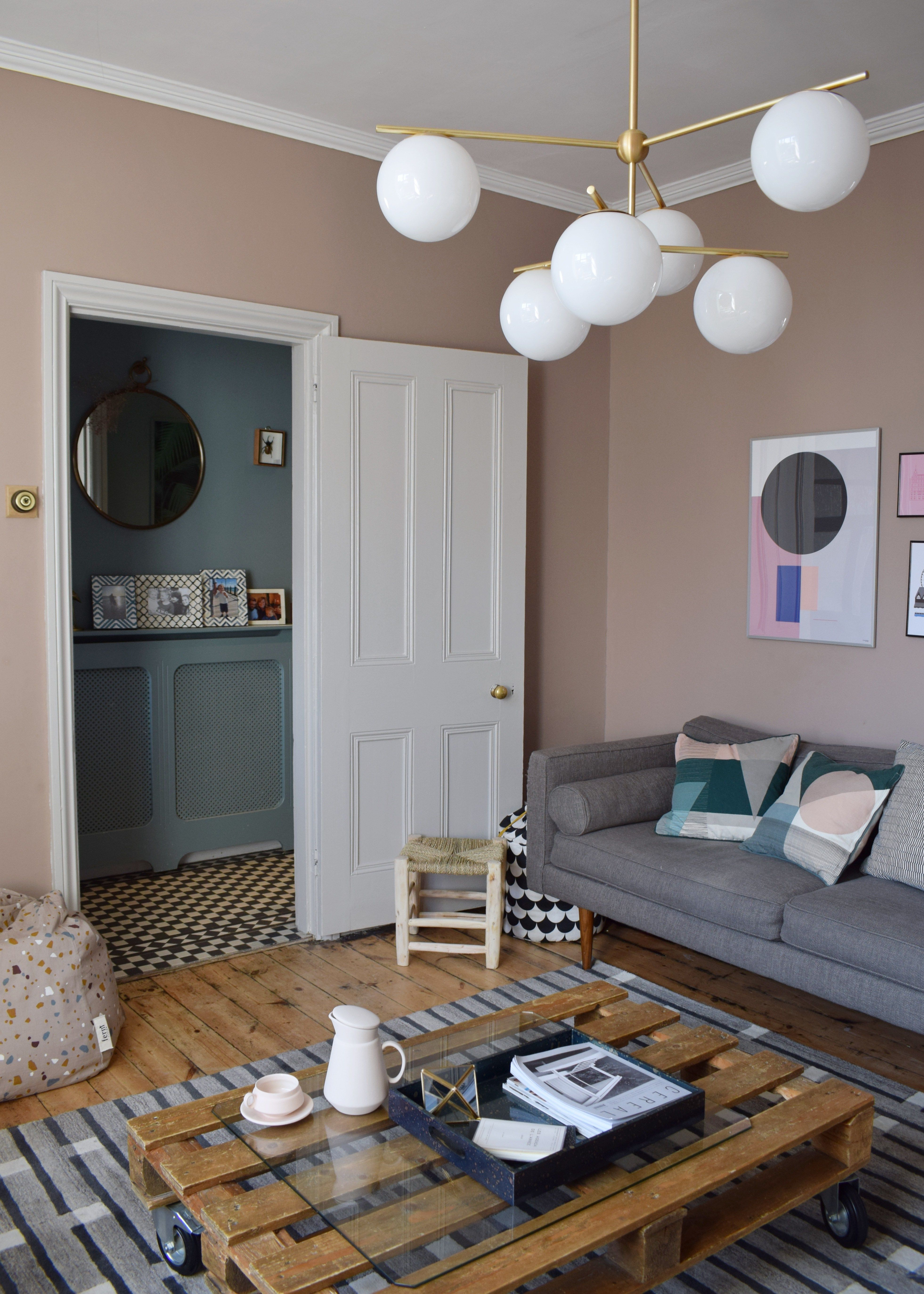 incredible west elm living room decorating inspiratio   Makeover Reveal: My Relaxed Mid-Century Living Room with ...