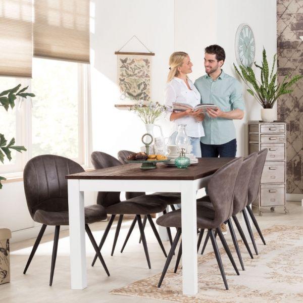 Design Eettafel Met 6 Stoelen.Eetset Tafel 6 Stoelen Surrey De Bommel Romantisch