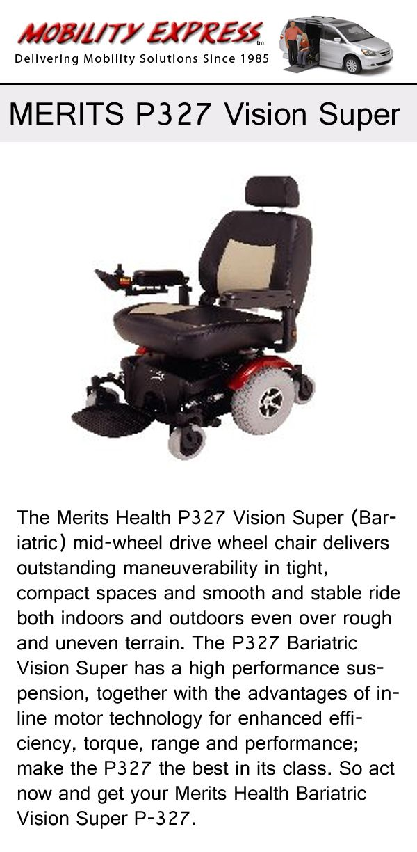 Merit P327 Vision Super #powerchair Increases The Mobility Of #seniors, The  #elderly, And More.