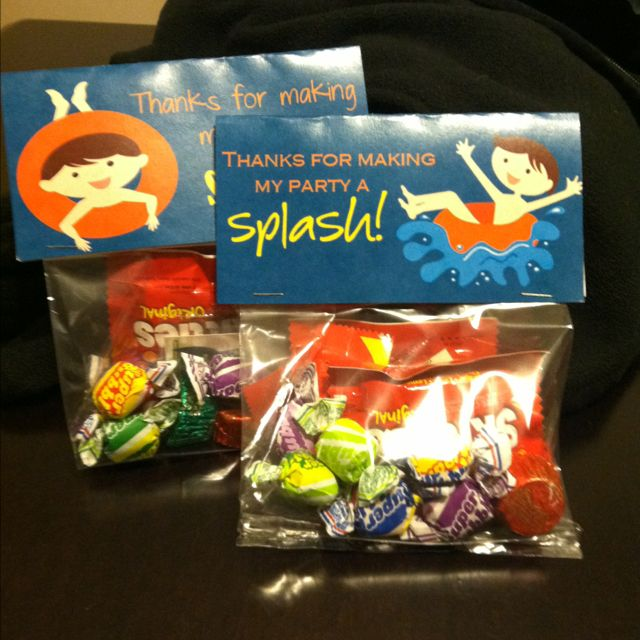 Best 25 swim party favors ideas on pinterest swimming - Swimming pool party ideas for kids ...