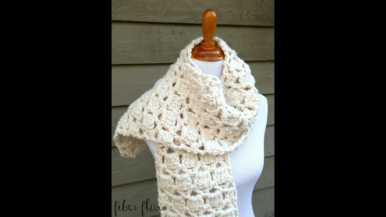 How To Crochet The Sugar Cookie Scarf Episode 272 Youtube Scarf Crochet Pattern Crochet Infinity Scarf Free Crochet