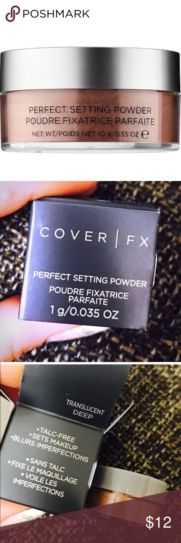 Cover FX Perfect Setting Powder Brand new deluxe sized (0.035 oz) - Cover FX Perfect Setting Powder in shade - deep , in original box , never been opened or used , fast shipping Sephora Makeup