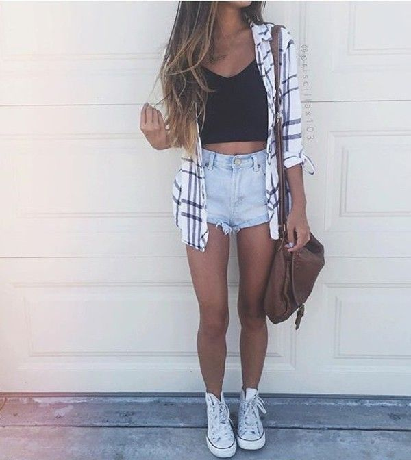 Pin By Marie Laurence C 244 T 233 On Outfit Short Denim Mode