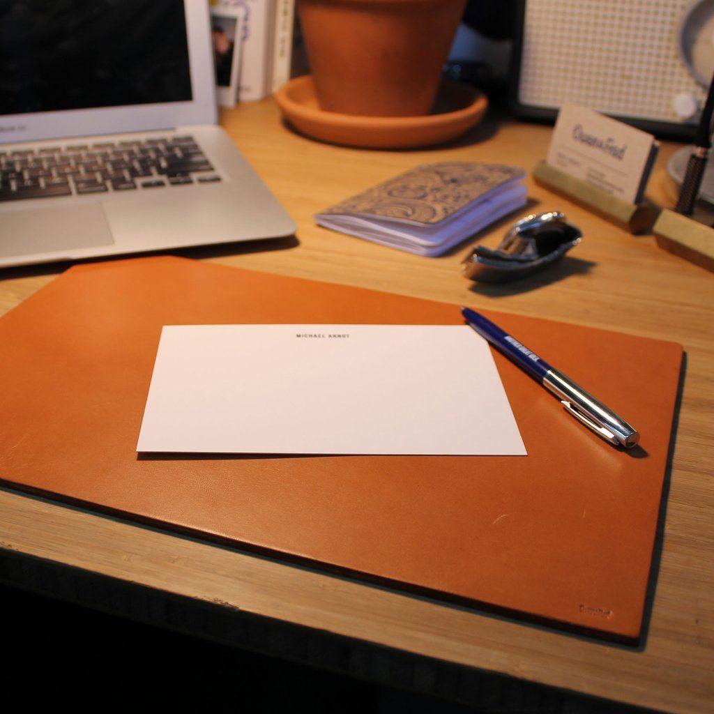 Leather Desk Pad Tan