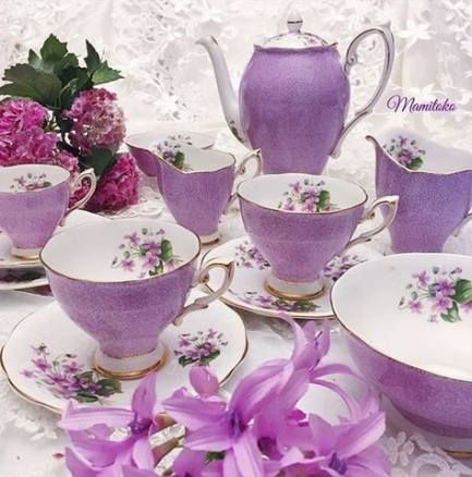 Vintage wedding purple tea parties 63 new ideas #teacups