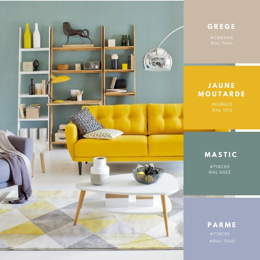 d clinaison autour du jaune moutarde pour une d coration chaude et ensoleill d coration. Black Bedroom Furniture Sets. Home Design Ideas