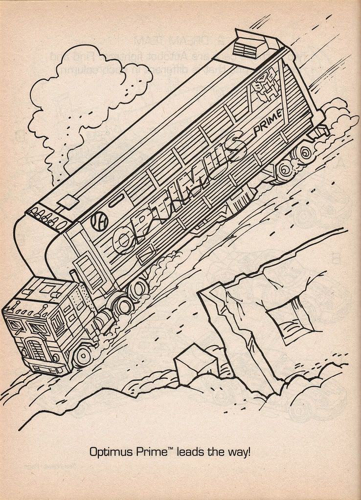 G2 Optimus Prime Transformers Coloring page from 1993 save image