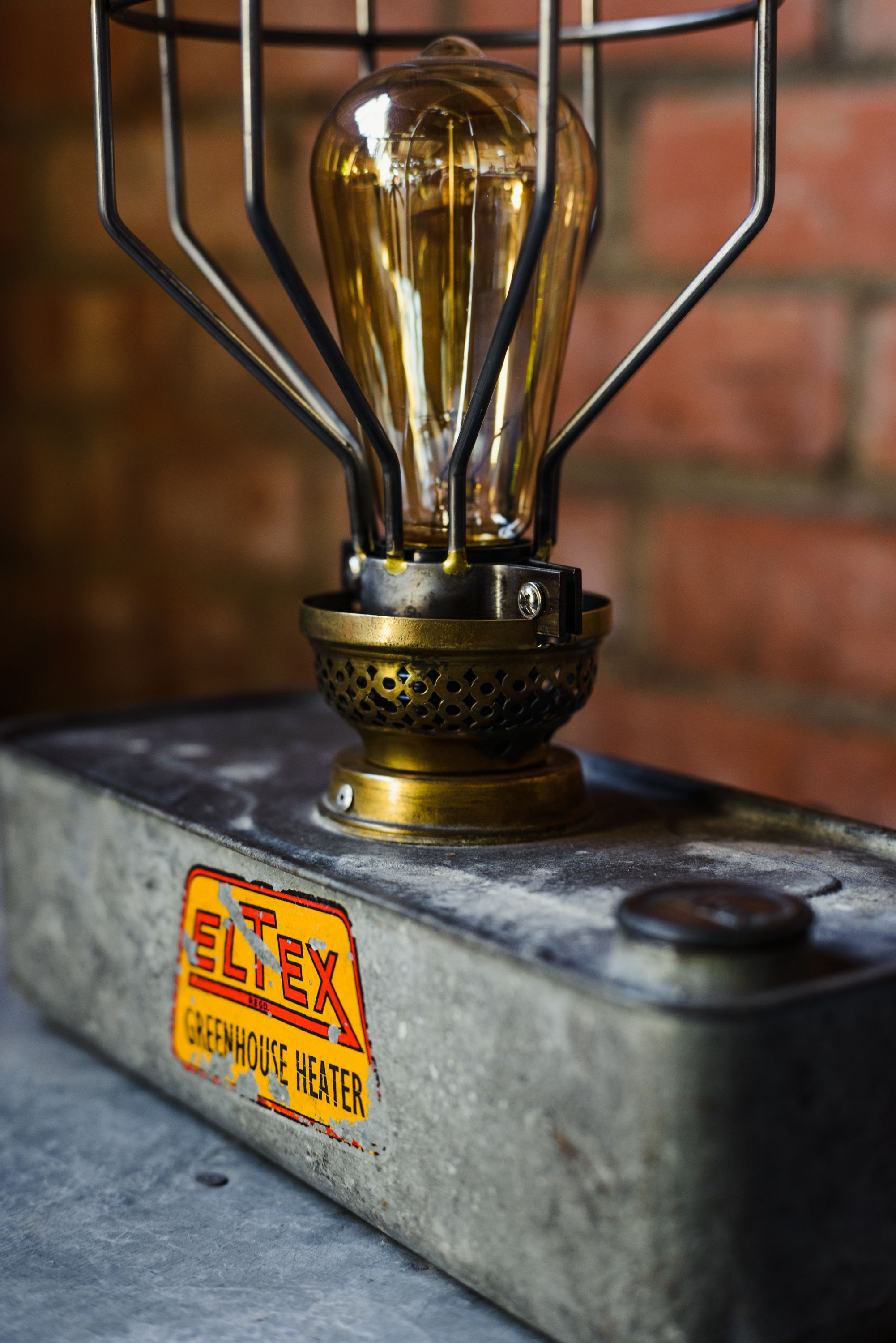 Upcycled Eltax Greenhouse Heater Lamp http//www