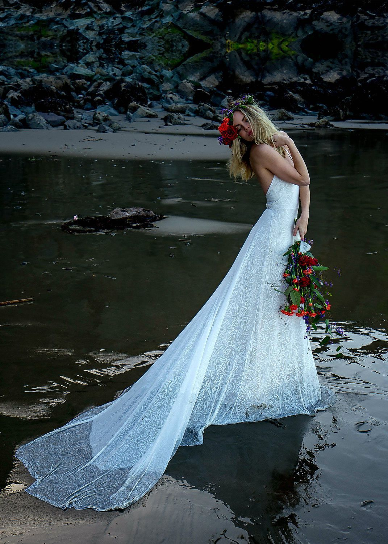 Boho Wedding Dress, Hippie Wedding Dress, Flower Child Wedding Dress ...