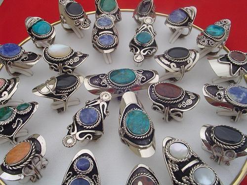 26dca38bfa51 Artesania Peruana hecha con plata de alpaca y piedras semipreciosas.Ver  catalogo