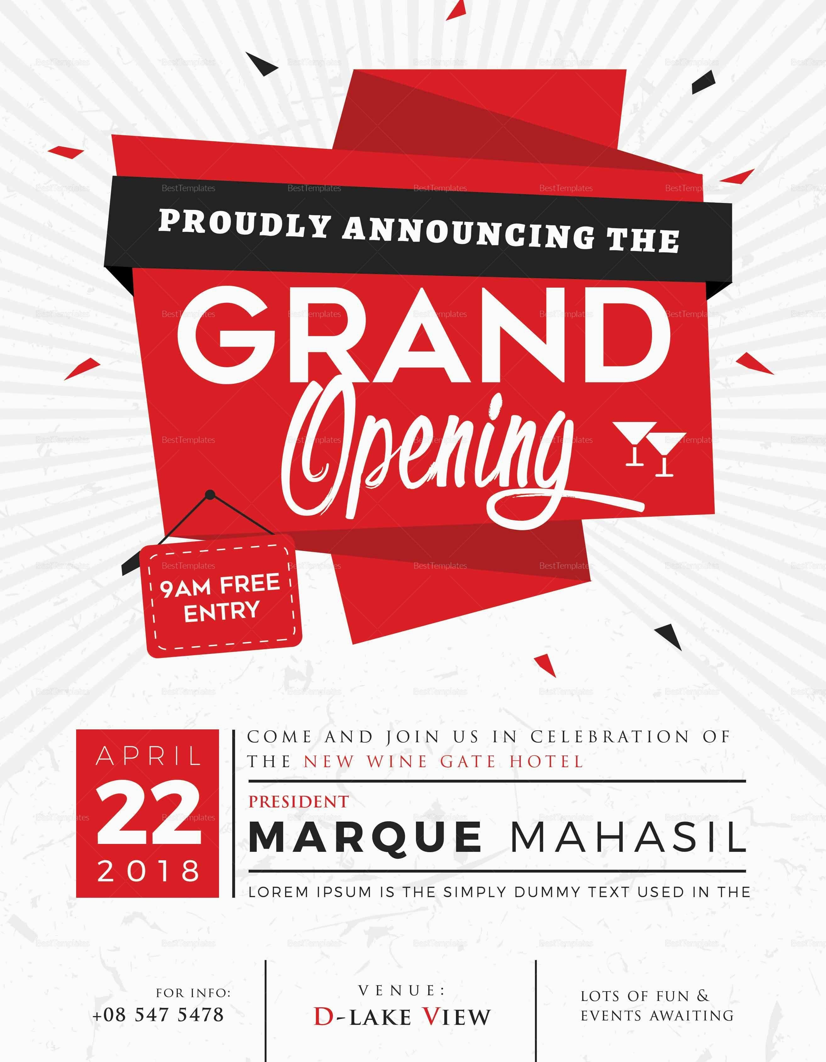 Instantly Download Free Grand Opening Invitation Card Template Sample Example In Micros Grand Opening Invitations Shop Opening Invitation Card Grand Opening