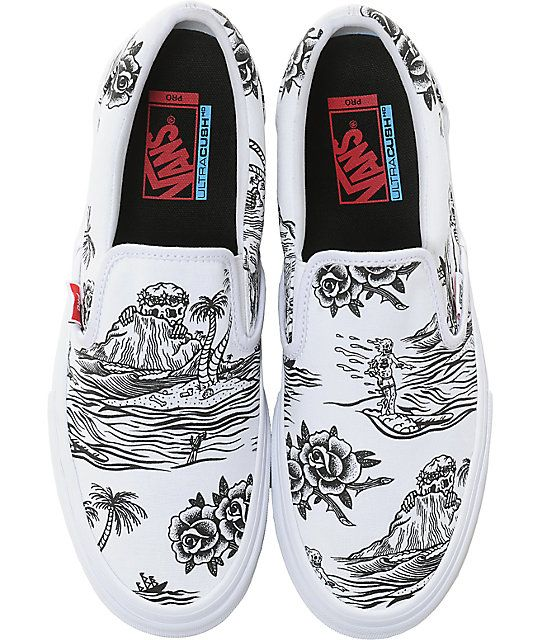 7b8792e3513 Vans x Sketchy Tank Slip-On Pro Skate Shoes