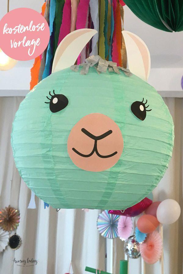 DIY Lama-Laterne aus Lampions einfach und schnell basteln, DIY-Laterne für Kinder #laternebasteln